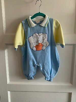 Baby Boys Girls Vintage  All In One Romper Playsuit  3-6 Months 1990s