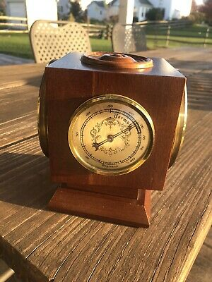 Vintage Wuersch Weather Station Clock Barometer Thermometer Hygrometer 4 Sided
