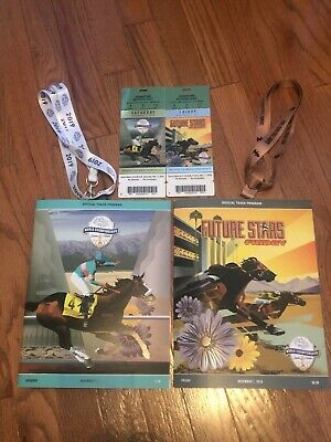 2019 Breeders Cup Souvenir Tickets-1 each Fri and Sat + Programs and Lanyards