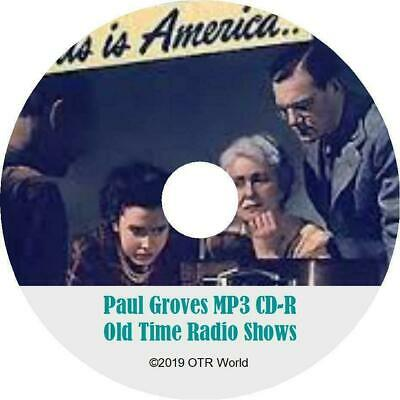 Paul Groves OTR Old Time Radio Shows MP3 On CD 2 Episodes