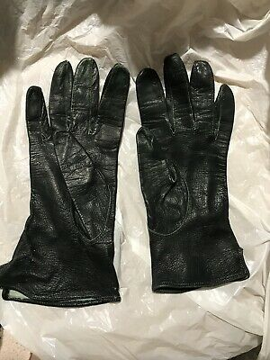 Vintage Real Leather Gloves Small