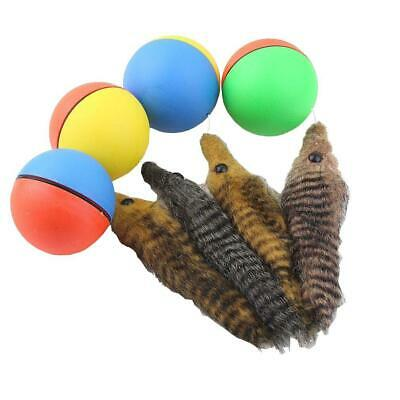 Dog Cat Weasel Motorized Funny Rolling Ball Pet Appears Jump Moving Alive Toy AS