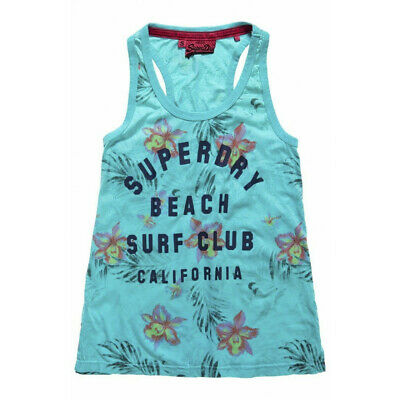 Canotta Superdry Surf Club Aop Ovdyed Gilet Turqs