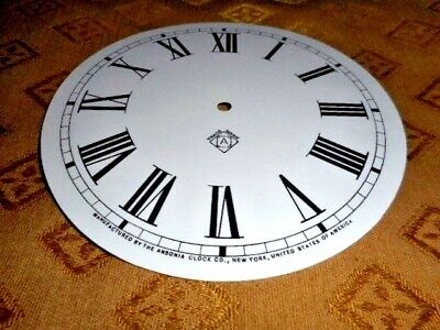 "For American Clocks - Ansonia Paper (Card) Clock Dial - 7"" M/T-GLOSS - Parts"