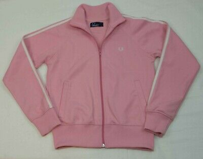 Girls Fred Perry Sportswear Track Jacket Zip Pink Size Y L ( 12-13 Yrs) Vgc