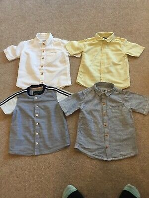 4 x  NEXT Short Sleeved Shirts Boys 18 - 24 Months  1.5 - 2 years Casual Smart