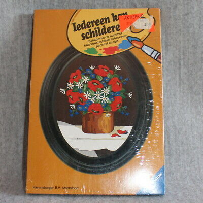 RAVENSBURGER Paint By Numbers Oval Frame Flowers Vintage Brand New Sealed MISB