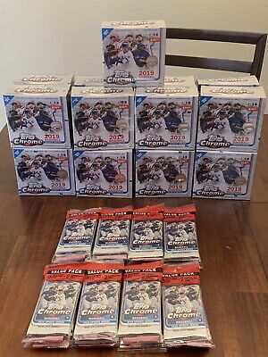 Huge Lot 2019 Topps Chrome Update -17 Mega Boxes / 16 Value Packs Factory Sealed