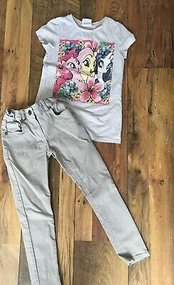 Girls M&S Skinny Giltter Jeans.And My Little Pony T, Shirt Age7/8 Small Bundle