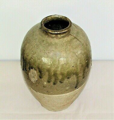 Chinese Tang Tomb Burial Pottery Large Celadon Jar Stoneware c.7th-10th C