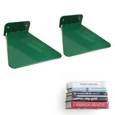 2 Invisible Concealed Floating Metal Bookshelf Wall Mounted Storage Book Display