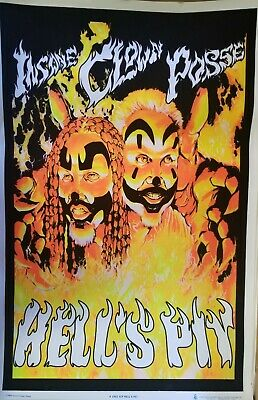 Insane Clown Posse Hell's Pit. Blacklight Poster - 24X36  1842