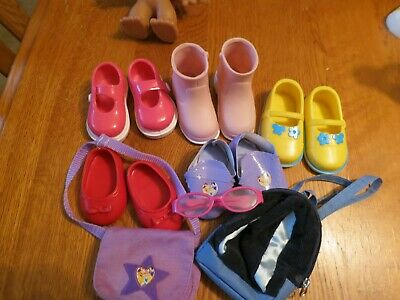 """5  PAIRS OF SHOES FOR 18"""" DOLL FITS AMERICAN GIRL Plus Extras"""