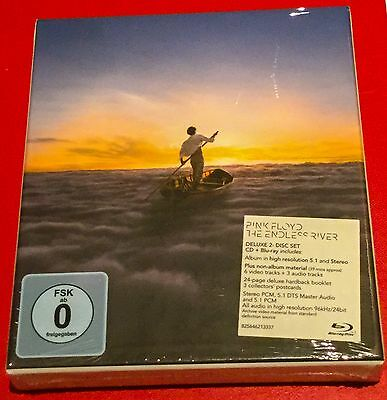 Sealed Deluxe Boxset Pink Floyd Blueray Cd The Endless River  Hard Book 3 Pcards
