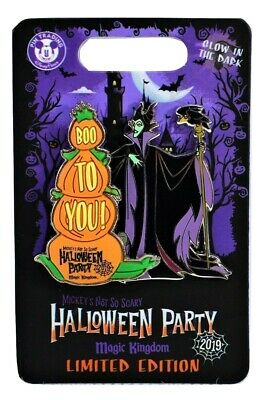 Disney Mickey's Not So Scary Halloween Party 2019 Maleficent Pin Limited Edition