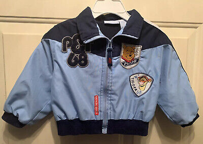 NEW NAVY Winnie The Pooh Baby Disney Fleece Lined Jacket SIZE 12-18MONTHS
