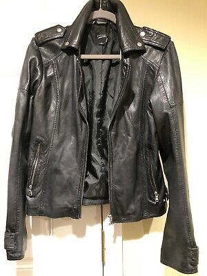 Lamarque Chloe Black Leather Jacket Women's Size Medium-New with tags
