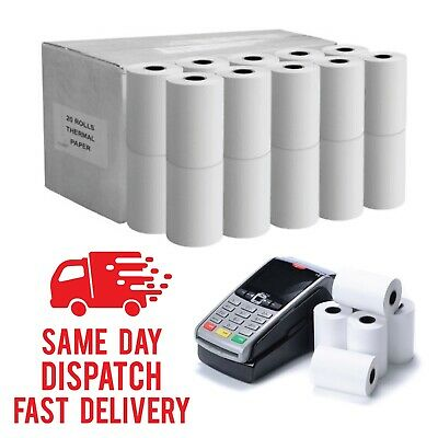 Thermal Paper Rolls Printer Rolls For Credit Card Machine Till 57x40mm x 10 Roll