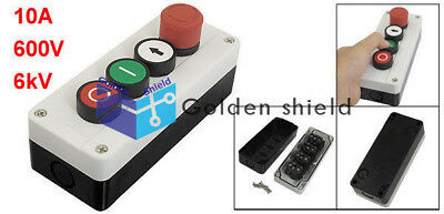Emergency Stop Momentary NC Red NO White Green Push Button Switch Station Ith.