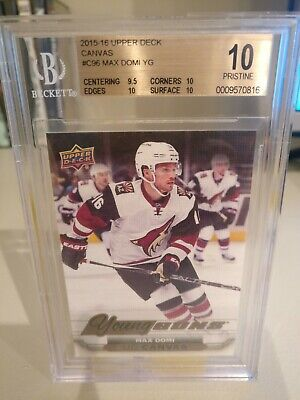 15/16 UD Canvas Max Domi Young Guns Rookie RC BGS 10 Pristine