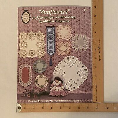 Sunflowers in Hardanger Embroidery by Mildred Torgerson Vol. 4 1994 Bell Pull