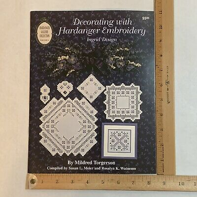 """Decorating with Hardanger Embroidery """"Ingrid Design""""by Mildred Torgerson #6 1995"""