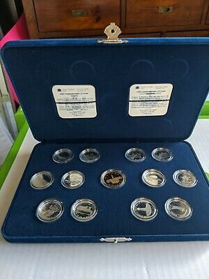 1992 CANADA COINS 125 ANNIVERSARY PROOF QUARTER SET STERLING SILVER 25 Cents RCM