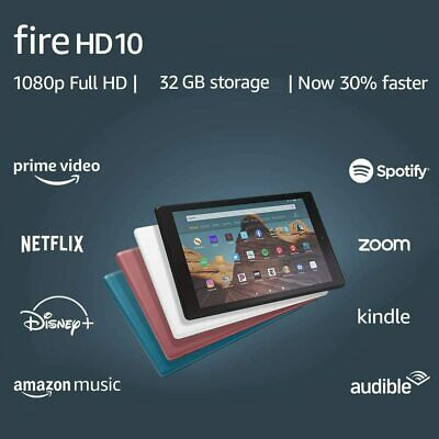 "NEW Amazon Fire HD 10 Tablet 10.1"" Display 32 GB (9th Generation) - ALL COLORS"