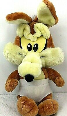 Baby Toddler Wile E Coyote W Diaper Looney Tunes Lovables Plush Warner Bros 1994