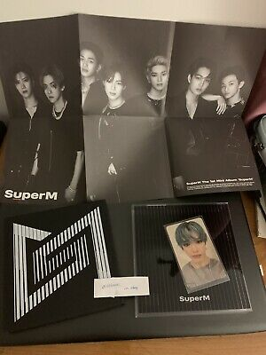 SuperM 1st Mini Album 'SuperM' UNITED Ver. w/ TAEYONG photocard + Group Poster