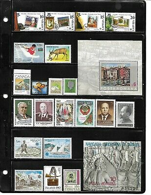 World, Collection lot of 100 MNH all different worldwide stamps see 4 scans #21