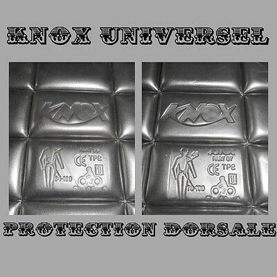 Knox Universel Protection Dorsale Moto Insert