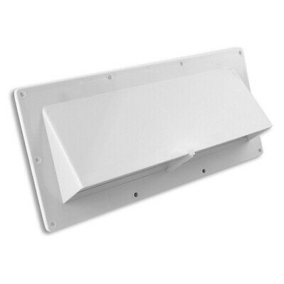 Exterior Wall Vent for Rv Range Hood Vent White - with Flapper Mobile Home O3Z5