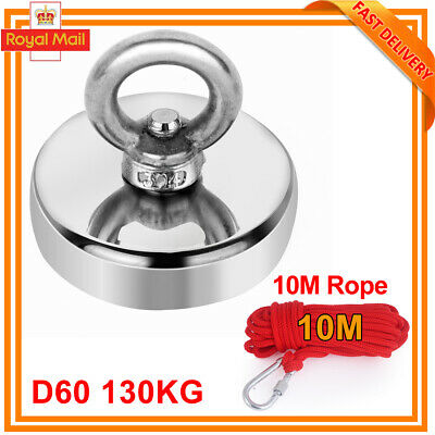 90-120kg Salvage Recovery Magnet Fishing Treasure Metal Detector with 10M Rope