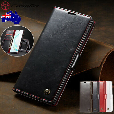 Fr Samsung Galaxy Note 10 Plus 5G CaseMe Leather Magnetic Flip Wallet Case Cover