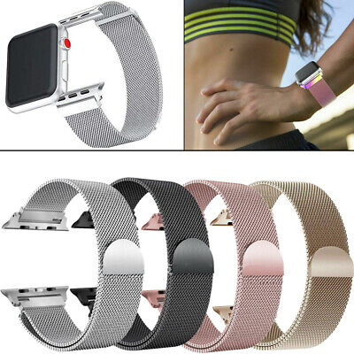 Milanese Magnetic Stainless Steel Strap Band For Apple Watch Series 4 / 3 /2 /1