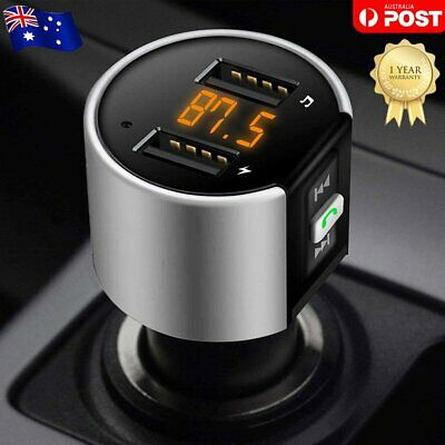 Wireless Bluetooth Car FM Transmitter LCD Radio MP3 Player 2 USB Ports Handsfree