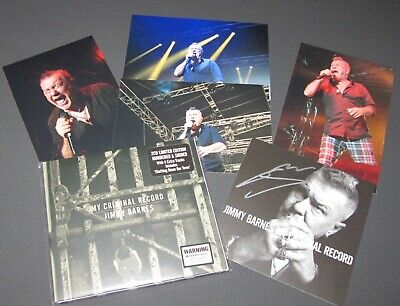2 Cd Album Limited Edition Numbered and Signed Jimmy Barnes My Criminal Record +