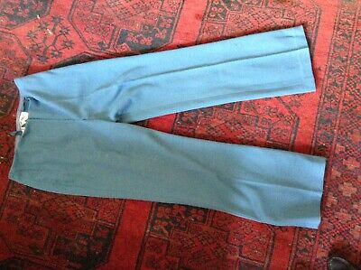 """Vintage 70's Eastex High Waist Big Flare Jersey Wool Blend  Trousers 30"""" W 30 L"""