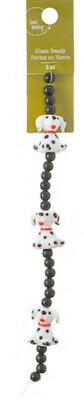 3 Pc Sold Out Blue.moon Bead Landing Glass Lampwork Beads Dog Puppy Dalmatians