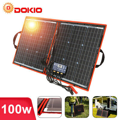 100W 12V Mono Portable Foldable Solar Panel For Camping Solar Battery Charger