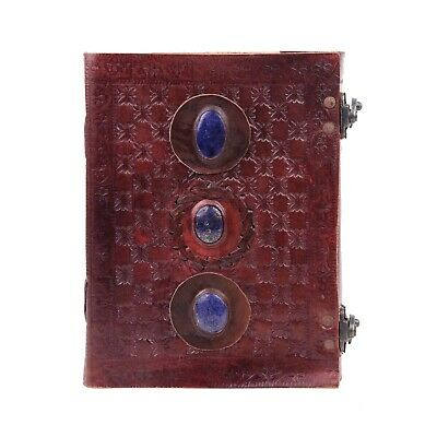 Leather Journal with Semi-Precious Stone & Buckle Closure Leather Diary Gift