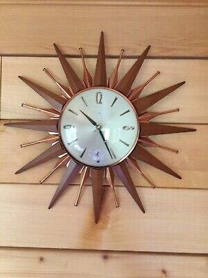 Vintage Starburst/Sunburst Metamec Wall Clock