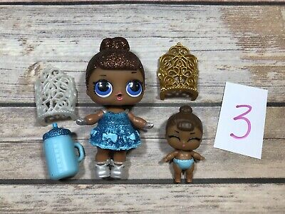 #3 LOL Surprise Doll MISS MS BABY BIG & LIL SIS Sister Set SISTERS GLITTER BABE