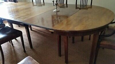 Large Antique Mahogany Dining Table - Seats up to 12