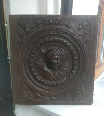 Fine Rare Henry VIII Carved Oak Portrait Panel c1530