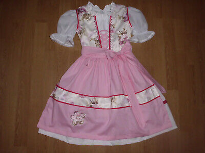 "NEU   Kinder Dirndl  gr. 122/128        ""MADE WITH LOVE"""