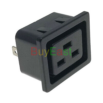 IEC C19 Female Panel Mount Industrial Inlet Power Socket AC250V 16A
