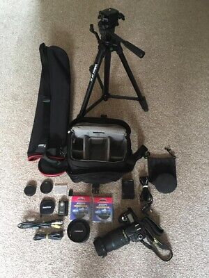 Nikon Bundle Camera Lenses Tripod Bags