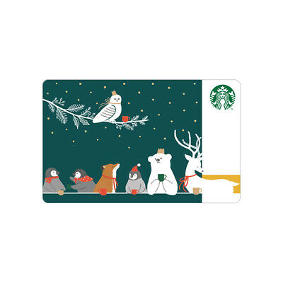 Starbucks Card coffee Korea Starbucks 2019 Christmas Animals Card gift card
